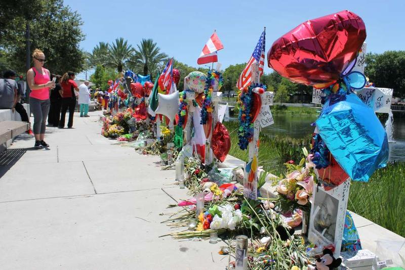 The 49 memorial crosses hat were placed outside ORMC in 2016 are among the items collected for display by the Orange County Regional History Center.