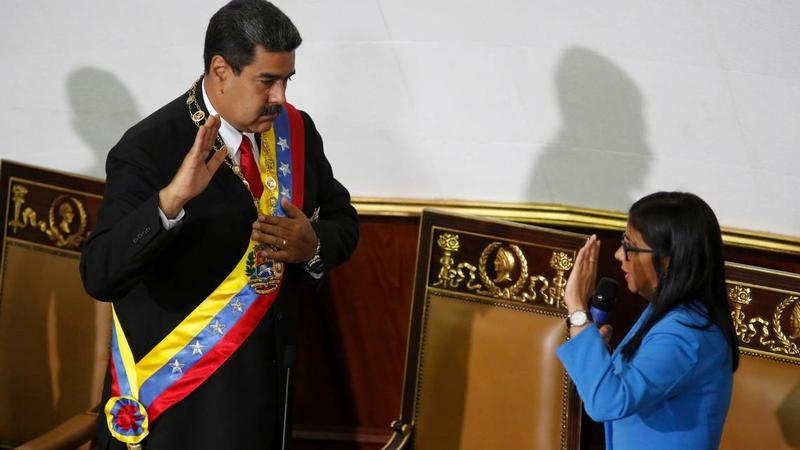 Venezuelan President Nicolas Maduro (left) last week being declared winner of the May 20 presidential election in Caracas.