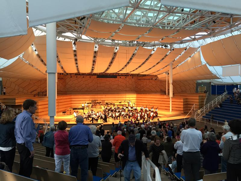 A performance in the Bayer-Benedict Music Tent at the Aspen Music Festival