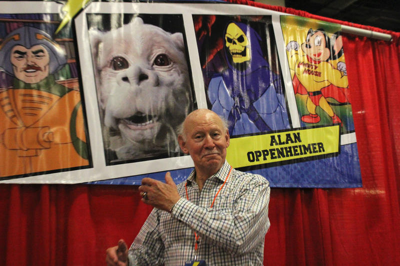 Alan Oppenheimer, the voice of 80s villain Skeletor from He-Man and the Masters of the Universe, poses at the 2018 Florida Supercon in the Broward County Convention Center on Saturday, July 14, 2018.