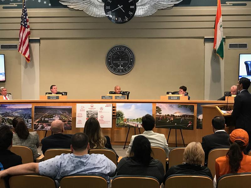 The Miami City Commission voted on Wednesday to hold a November referendum on David Beckham's plans to build a soccer stadium on Melreese Golf Course.