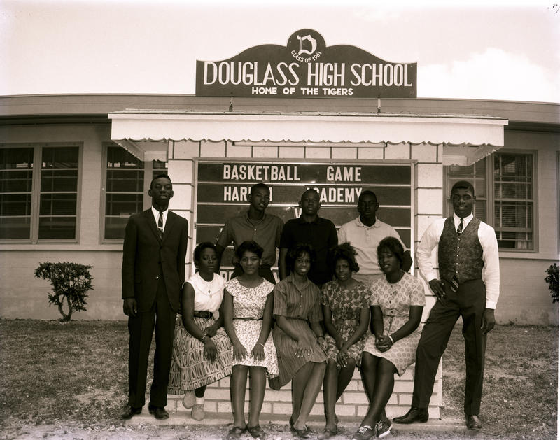 Frederick Douglass High School in Key West, circa 1963. The school closed when Monroe County schools integrated in 1965.