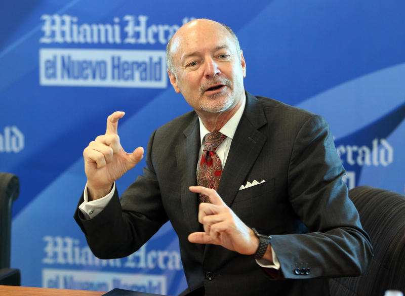 Immediate past Broward College president David Armstrong answers questions during a Miami Herald editorial board meeting in January. He recently retired, but his work is being recognized nationally.
