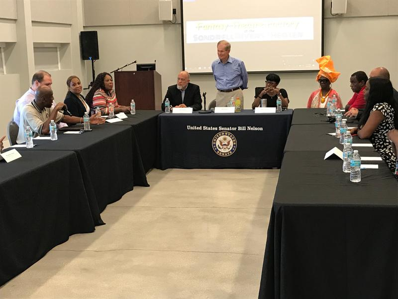 U.S. Senator Bill Nelson discussed gun violence in Liberty City on Friday with city activists and elected officials.