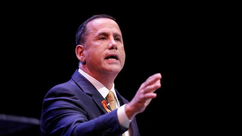Former Miami Beach Mayor Philip Levine speaks during a debate ahead of the Democratic primary for Florida governor.
