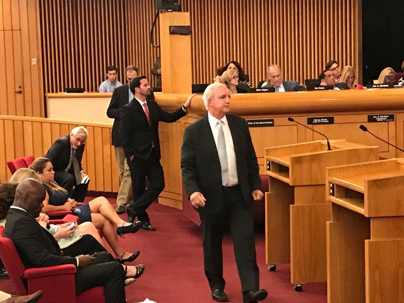 Miami-Dade mayor Carlos Gimenez advocated for an upgrade to the South Dade busway.