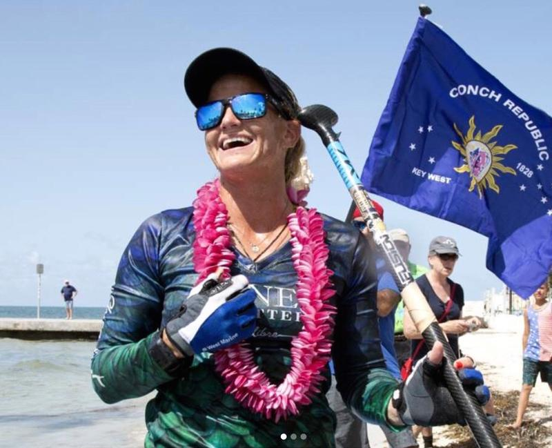 Victoria Burgess of Pompano Beach became the first woman to paddleboard from Havana, Cuba to Key West.