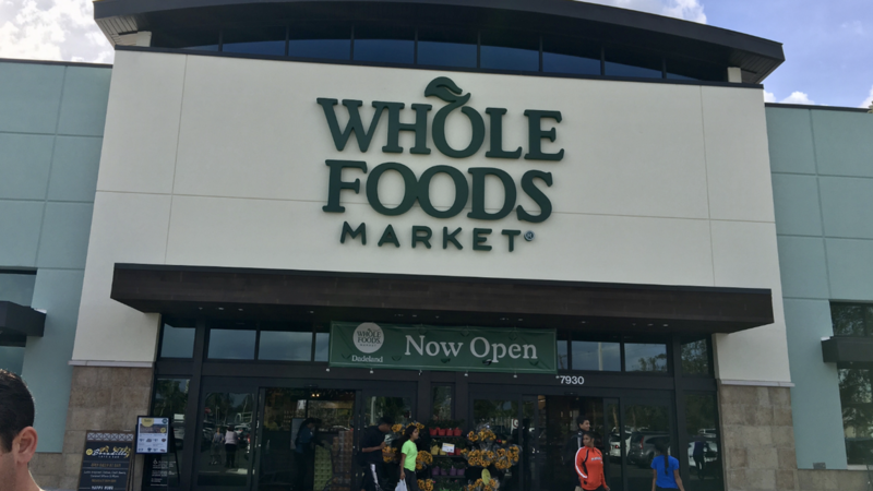 South Florida residents can now order groceries from Whole Foods through Amazon Prime.