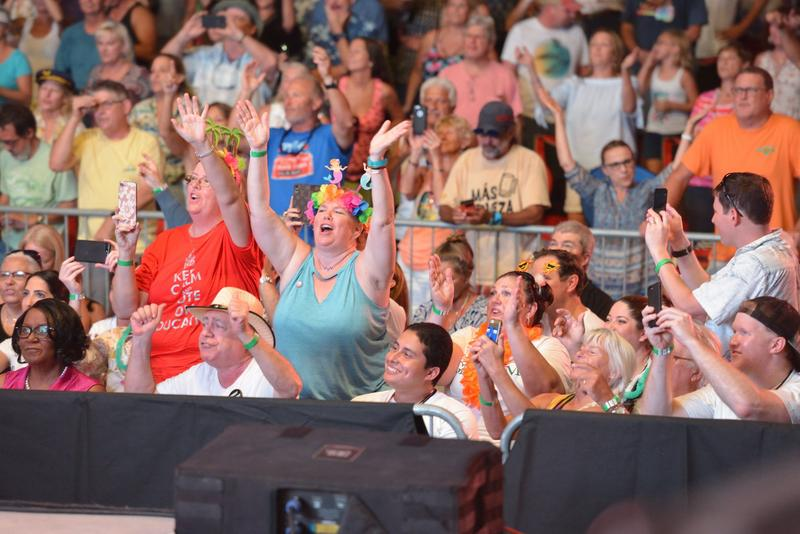 Over five thousand Jimmy Buffett 'Parrotheads' gathered in the Hollywood ArtsPark Ampitheater for his concert, 'Get Out The Vote,' in support of candidate Gwen Graham on Thursday, Aug. 23, 2018.