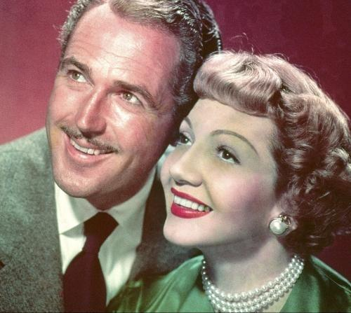 Patric Knowles and Claudette Colbert