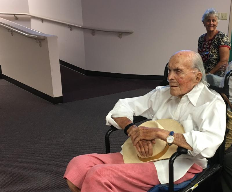 David Wolkowsky, who turns 99 this month, attended the Monroe County Commission meeting Wednesday where the commission supported naming an island after him.