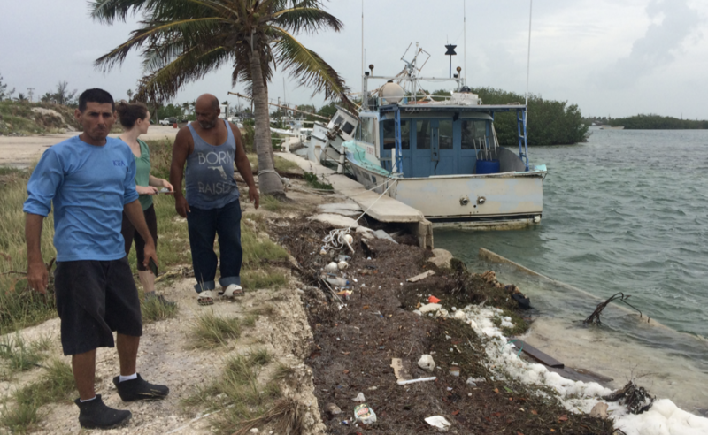 Owners of Key West fishing company describe the damage from Hurricane Irma to a field interviewer.