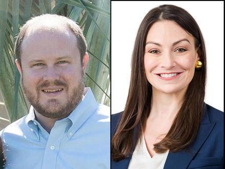 State Rep. Matt Caldwell (left) will face lawyer and lobbyist Nikki Fried.