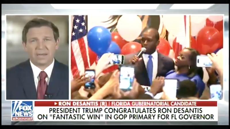Screenshot of DeSantis' interview on FOX News.