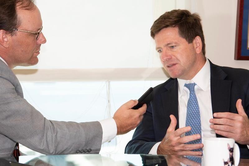WLRN speaks with Securities and Exchange Commission Chairman Jay Clayton in July at the agency's regional office in Miami.