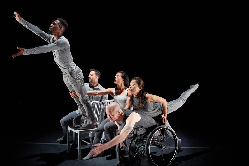 """Dancers from the Axis dance Company perform """"The Reflective Surface."""""""