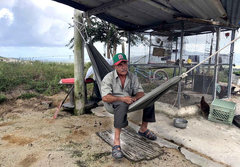 Pablo Soto refused to abandon his home in Yabucoa, where Hurricane Maria made landfall in Puerto Rico.