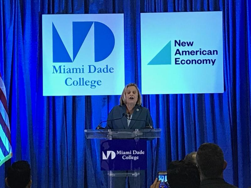 U.S. Rep. Ileana Ros-Lehtinen joined other elected officials from Miami to discuss a new study on Miami's integration of immigrants.