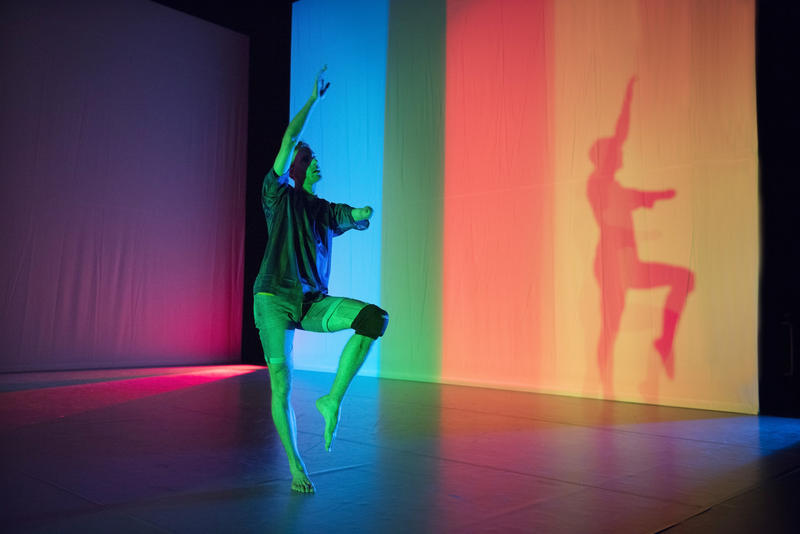 """Toke Stranby from Candoco Dance Company performs """"Face In."""""""