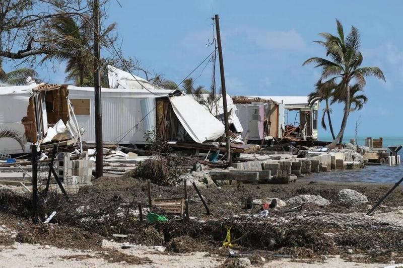 Damage from Hurricane Irma in the Florida Keys.