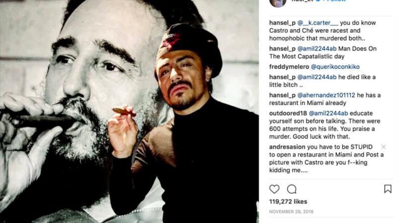 A screengrab of 'Salt Bae' chef Nusret Gökçe's Instagram post from November 2016. The post has since been removed.
