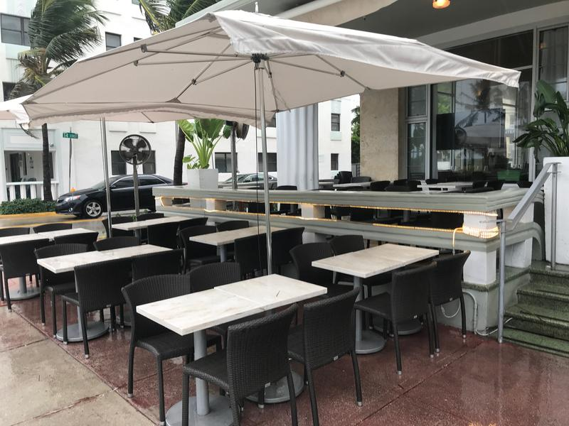Rain and wind from Tropical Storm Gordon affected business for restaurants along Ocean Drive in Miami Beach.
