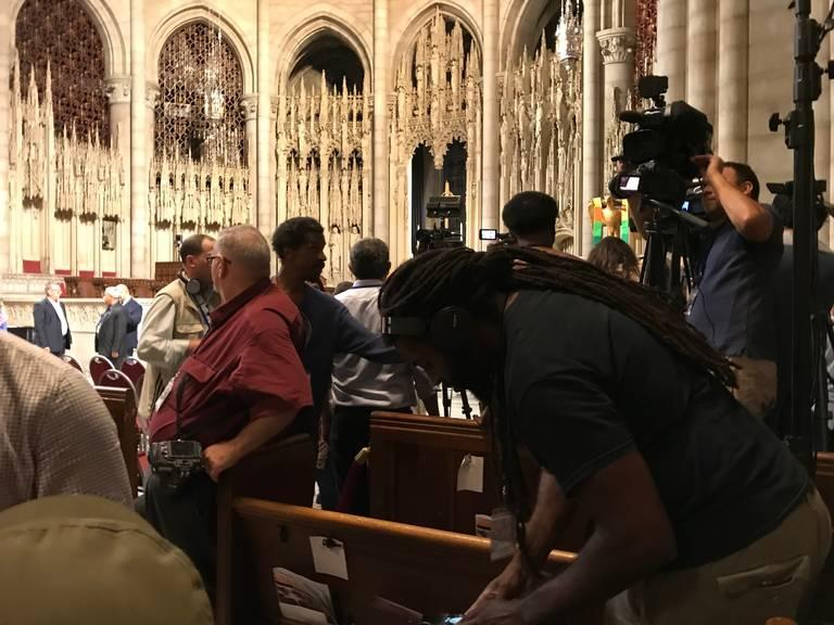 Some journalists who were credentialed to cover an event at the Riverside Church in New York featuring Cuba's Miguel Díaz-Canel were kicked out of the event.