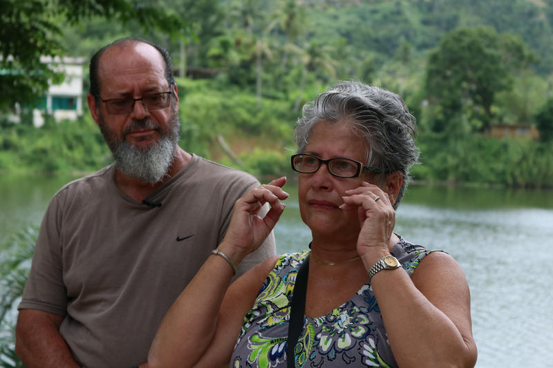 Vivian Lopategui and her husband, Harry Marrero, lost their restaurant and home to Hurricane Maria.