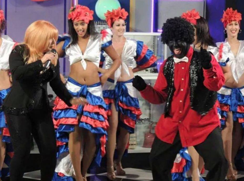 """Promotional material for """"Noche Cubana"""" in Miami shows a character in blackface."""