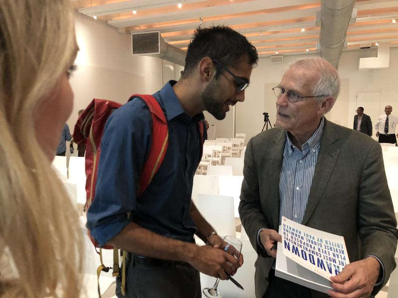 Paul Hawken worked with more than 200 researchers to create Project Drawdown, an index of 100 solutions that already exist to help reverse global warming. Hawken spoke at the annual celebration of a Miami climate non-profit on Tuesday night.