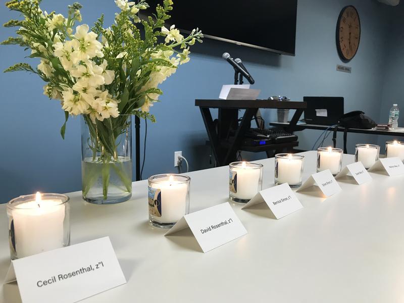 Eleven Yahrzeit, or Jewish memorial candles, were lit at the Jewish Community Campus in Davie Monday morning.