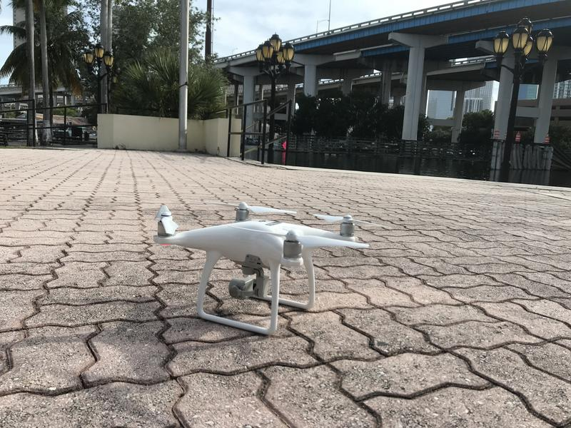 The City of Miami deployed a drone to map flood-vulnerable areas around Jose Marti Park.