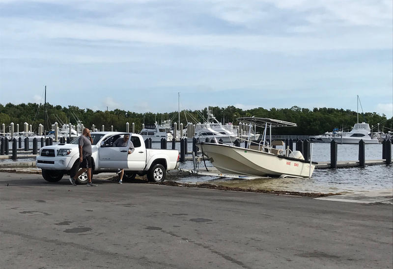 King Tide covered all of the boat ramps at the Matheson Hammock Marina in Miami-Dade County. Most boaters decided to postpone launching the boats for fear their vehicles would slip in the water.