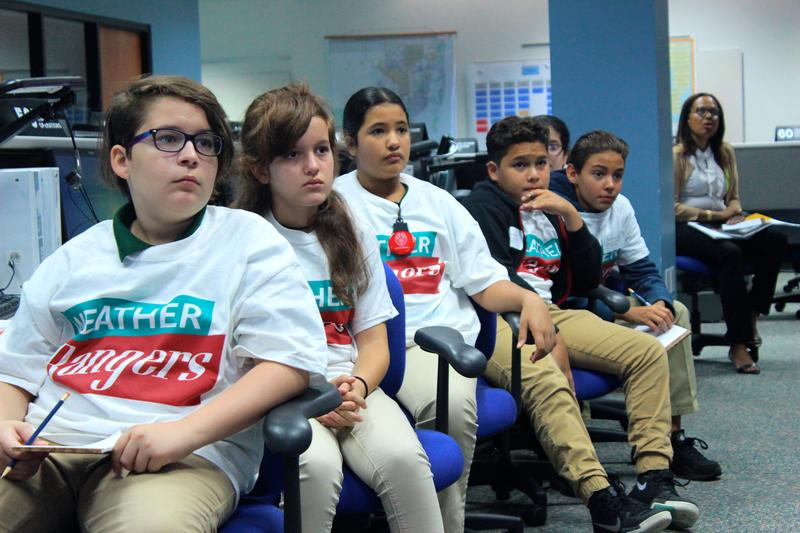 Students from West Miami Middle School simulated hurricane preparedness and emergency responses in the county's emergency operations center in Doral on Wednesday, October 17, 2018. The program, StormZone, has given students this simulation for 12 years.