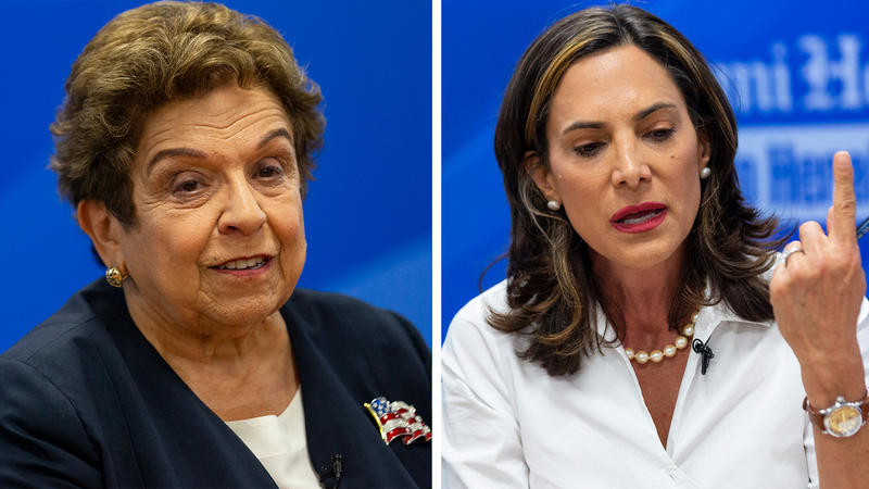 Democrat Donna Shalala, left, and Republican Maria Elvira Salazar are running in Florida's 27th Congressional District. It is an open seat thanks to Rep. Ileana Ros-Lehitnen (R) not running for re-election.