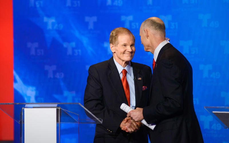 Senator Bill Nelson and Governor Rick Scott  had their first debate in Miami, Fl.