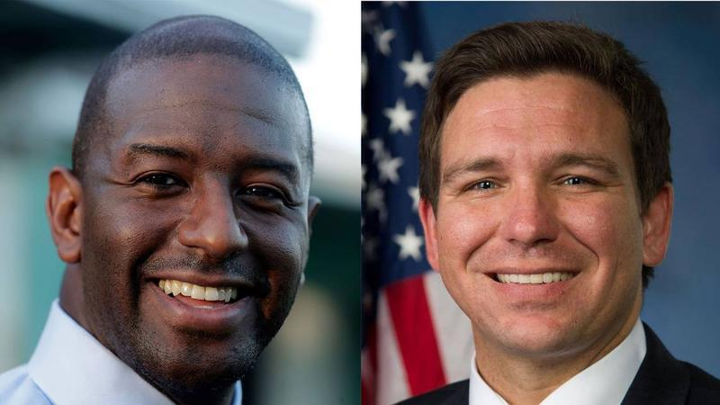 Andrew Gillum and Ron DeSantis.