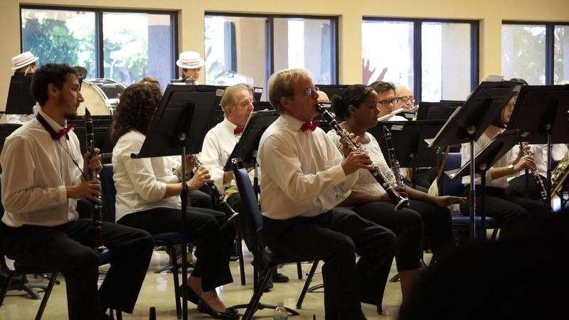 The North Miami Pops Band preformes at the Gwen Margolis Community Center in March of 2014.
