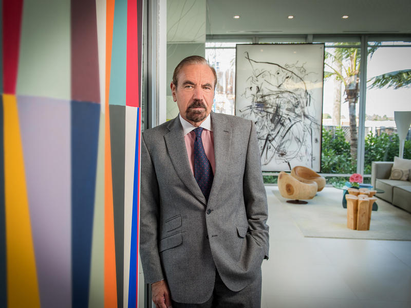Jorge Pérez stands inside one of his company's most recent condonmium developments. The Paraiso project includes four buildings in Miami's Edgewater neighborhood. Pérez thinks Miami's condo market is coming in for a soft landing.