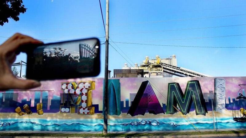 Miami Murals, a climate-focused mural series, unveils its first augmented reality mural in front of the historic City of Miami Cemetery in February.