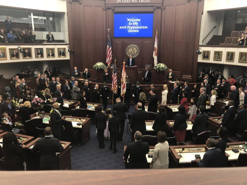 New House Speaker Jose Oliva is formally elected to the leadership position during an organization session at the Capitol in Tallahassee on Tuesday.