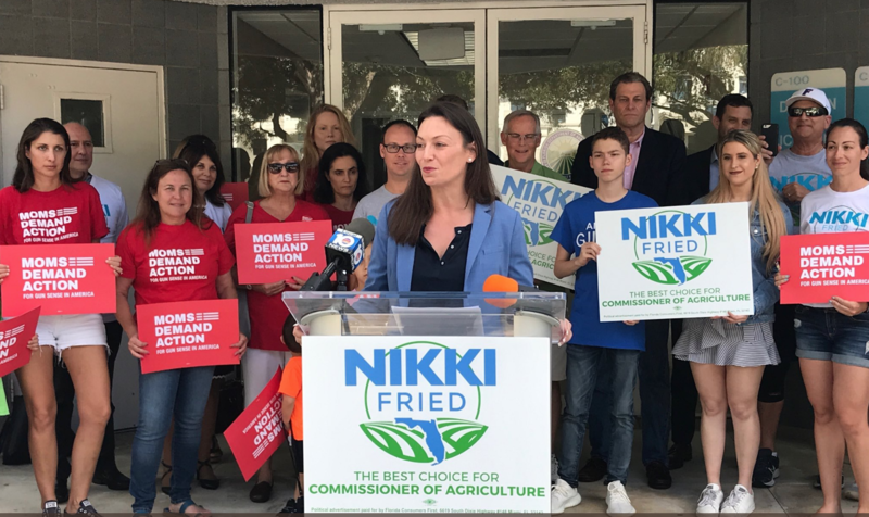 "Nicole ""Nikki"" Fried, Democratic candidate for agriculture commissioner, declared victory and announced her transition team at a press conference Saturday afternoon."