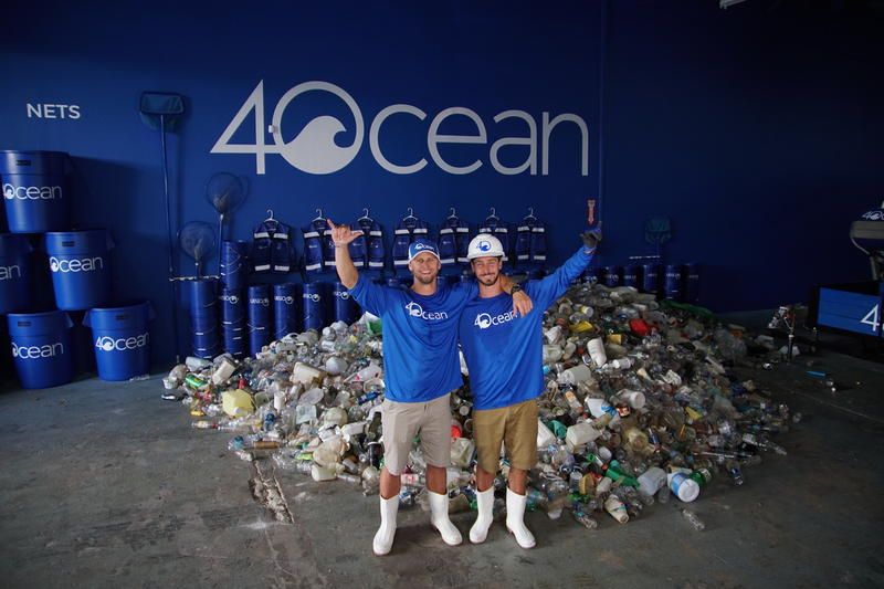 Andrew Cooper and Alex Schulze's company has cleaned over two million pounds of plastics from coastlines around the world.