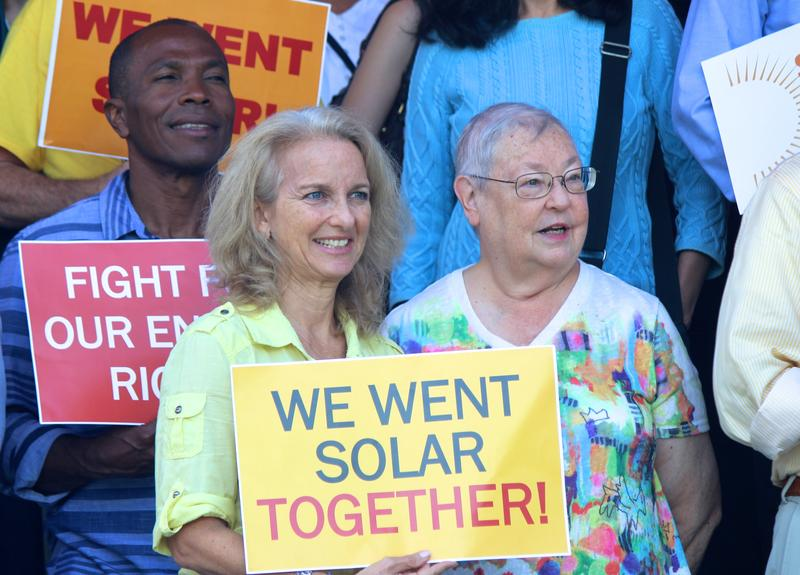 Solar enthusiasts attend the 2018 Florida Solar Congress in Little Haiti, Miami, on Saturday, December 1, 2018.