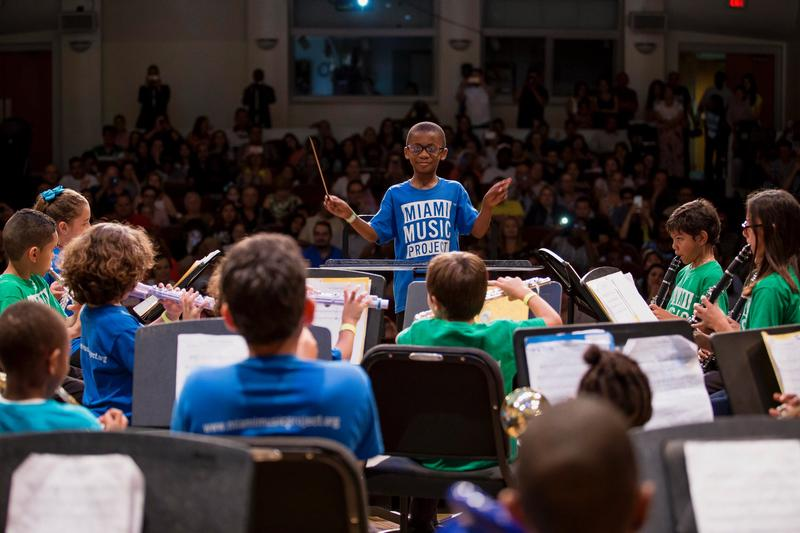 A performance by the Miami Music Project, which will receive a $750,000 investment from Knight to introduce more youth to classical music training.