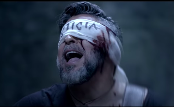 Nicaraguan-American salsa star Luis Enrique in the video of his new single 'Mordaza,' which denounces Nicaragua's Ortega regime