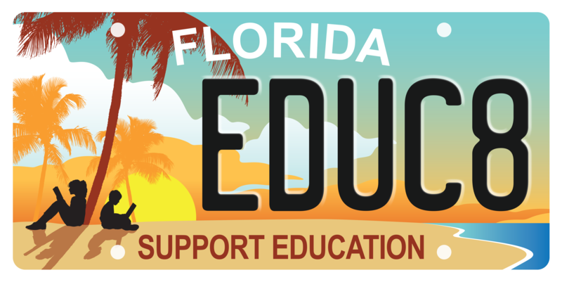 The new 'Support Education' specialty license plate, released Tuesday, Dec. 11, 2018.