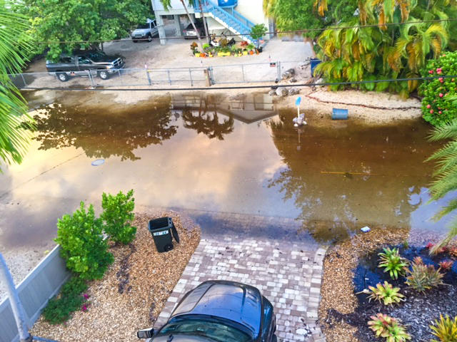 Tidal flooding on sunny days is already affecting some roads in the Keys, like this one on Key Largo, shown in 2015.