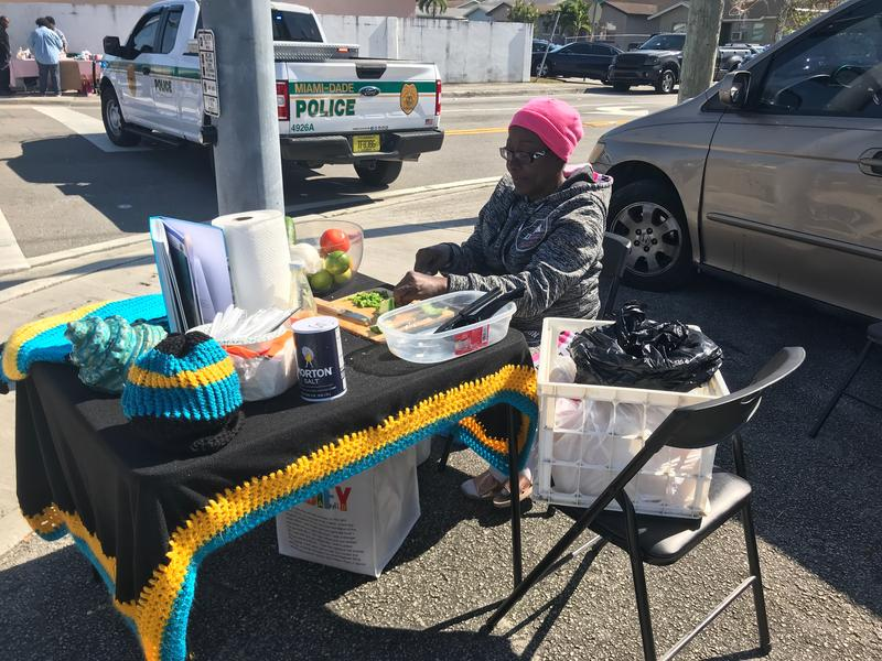 Carrie Floyd cooked and sold homemade conch salad during the parade.