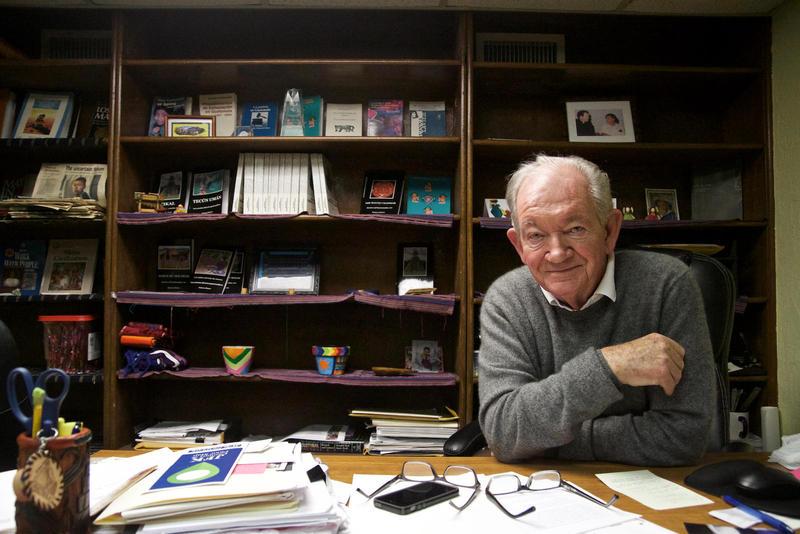 Father Frank O'Laughlin at the Guatemalan-Maya Center in Lake Worth.